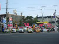 北谷国体道路沿いにあります北谷本店には軽自動車を中心に展示しております♪ ご来場お待ちしております