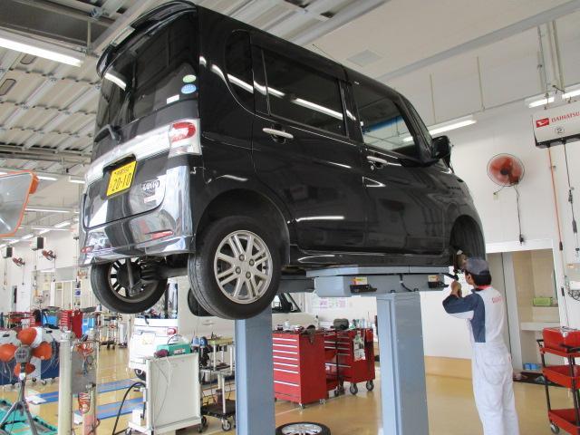 日頃からダイハツ車を整備しているプロの整備スタッフが、あなたの愛車を点検・整備いたします。