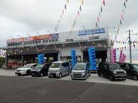 併設の西原本社指定工場は「車検の速太郎」の看板が目印です。車検・整備もお任せ下さい。