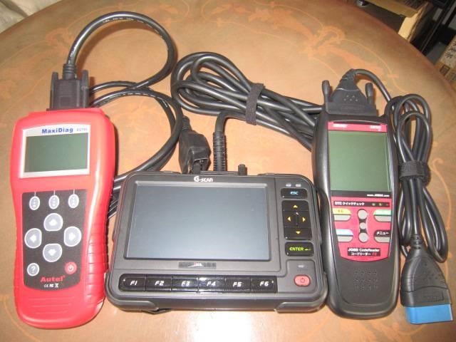 お車の故障箇所をお調べするコンピュータ診断機です。迅速に修理を行えます。