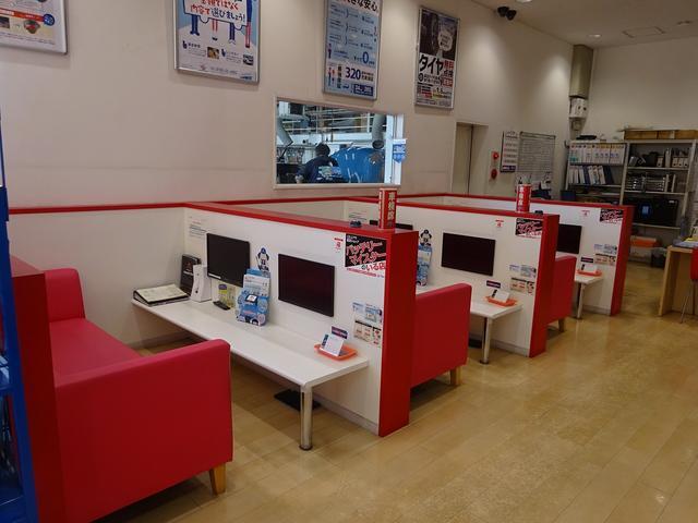 車検専用ブース完備車検の待ち時間にテレビを見ることも可能です。