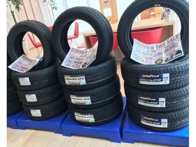 タイヤ多種多様な取り扱いがあり、中には特価価格もございます!!是非ご相談下さいませ!!