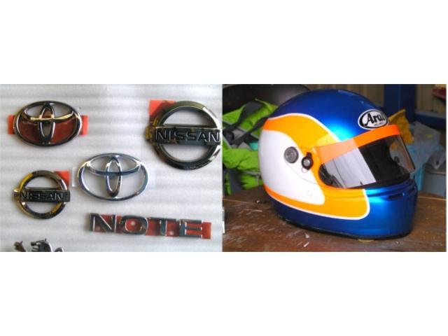 車に限らず、バイク、ヘルメット、自転車、ホイールなど、形のある塗装できる物なら可能な限り対応!