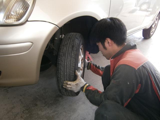 タイヤ交換もお任せ下さい。