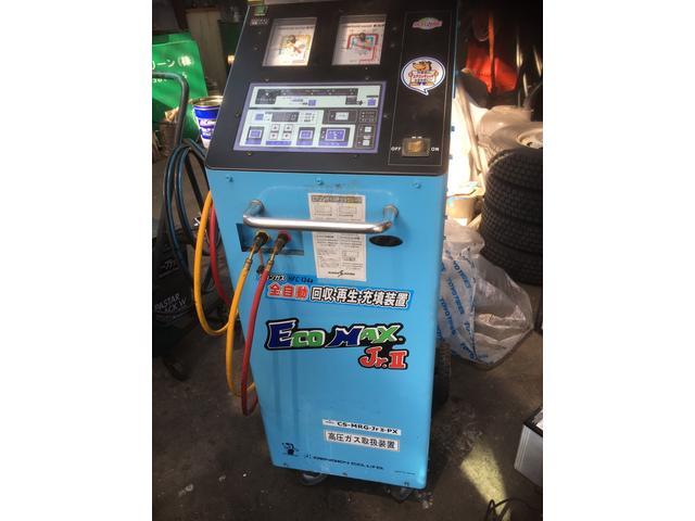 エアコンガスも確り回収。当社は環境にも配慮しております。