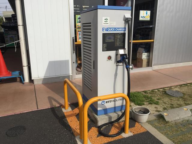 EV(電気自動車)充電スタンドを設置しております!