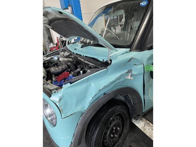 キズ・凹みの修理もお任せください、修理方法も最善の方法をご提案しています!無料代車もあります。