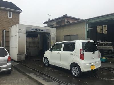 車検後は綺麗に洗車清掃!