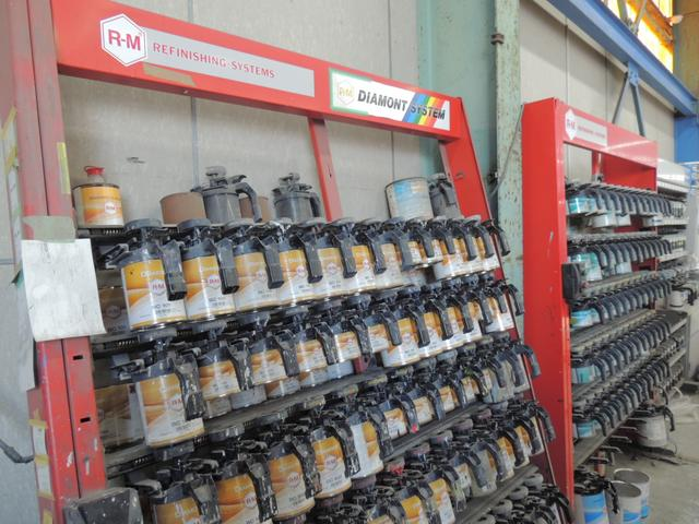 環境にもやさしい水性塗料を使用。