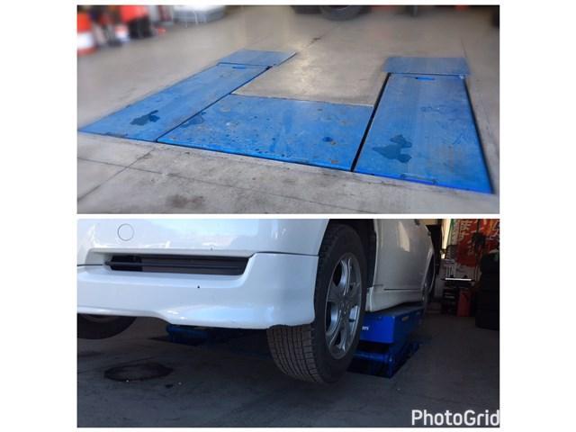 埋め込み式リフト完備で車高の低いお車も対応します。