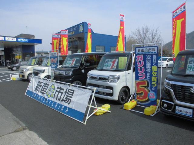 新車の展示も行っております。国産全メーカーお取り扱いしております。