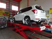 足回り、ブレーキ修理 4輪アライメント測定