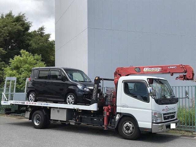 積載車完備。納車引き取りもお任せ下さい。