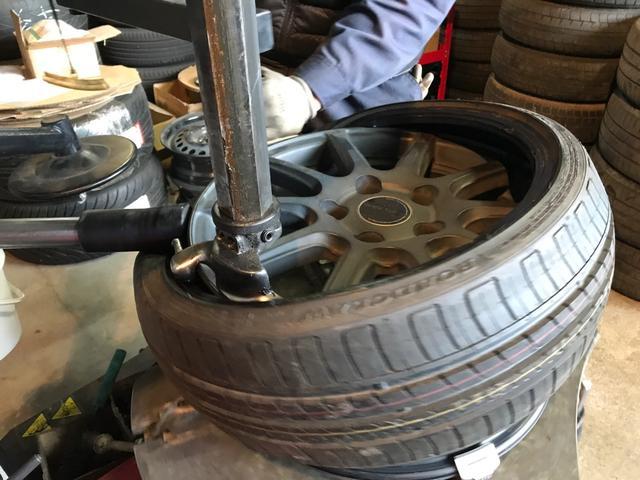 扁平タイヤの交換もOK!