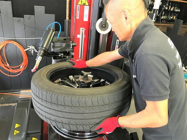 【手順10】タイヤを機械から外します
