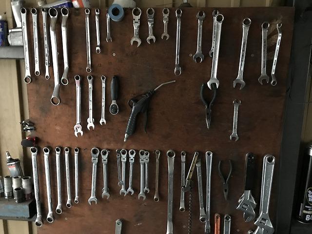 工具はいつも整理整頓しております。