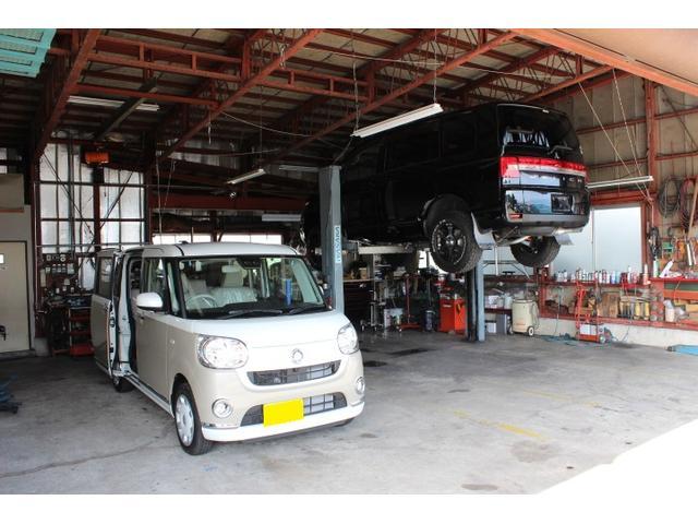 軽自動車からカスタム車まで幅広いお車の整備も対応致しております!