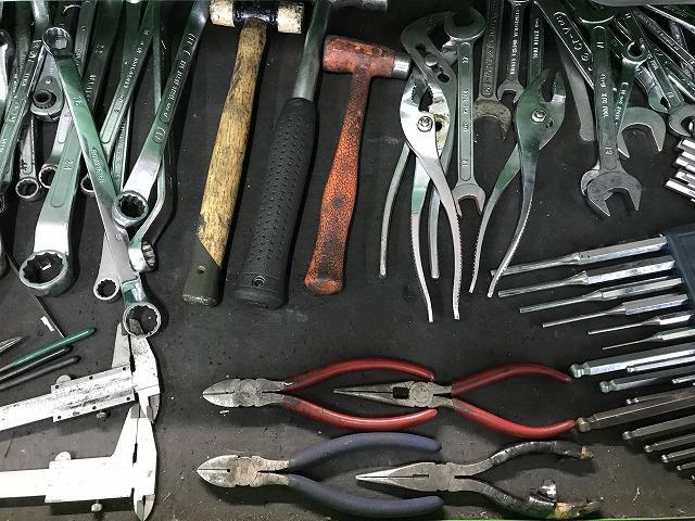 工具類はいつも整理整頓。