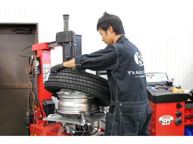 タイヤチェンジャー完備!!スタットレスタイヤの購入から交換まで当店にお任せください!!