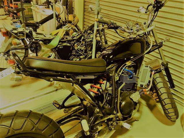 バイクの塗装も可能です!
