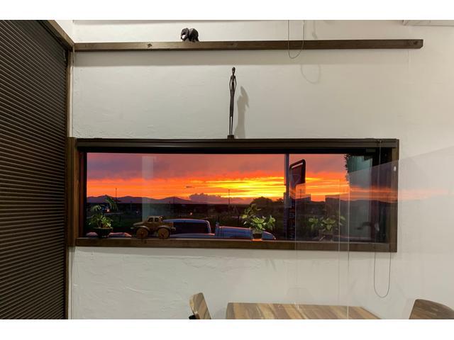 天候の良い日、待合室からの景色は最高です。