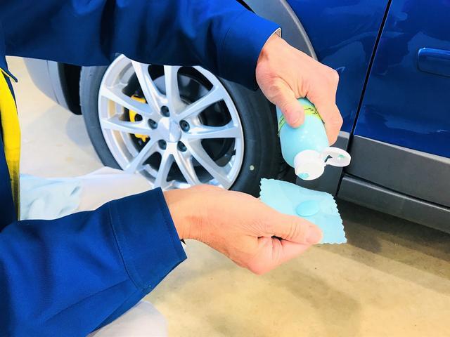 【コーティング8】脱脂剤で、コンパウンドの粉を除去していきます