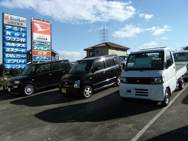中古車展示場あり。新車&中古車の注文販売も承ります