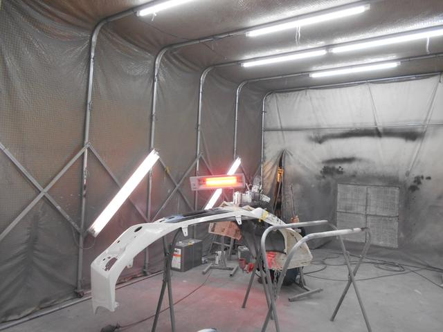 板金・塗装も自社で行います!加工を伴うパーツ取付も得意です!