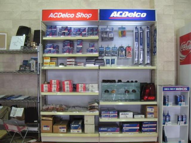ACデルコ正規代理店なので、オンラインで必要なパーツの手配が出来ます。消耗品の在庫多数あり。