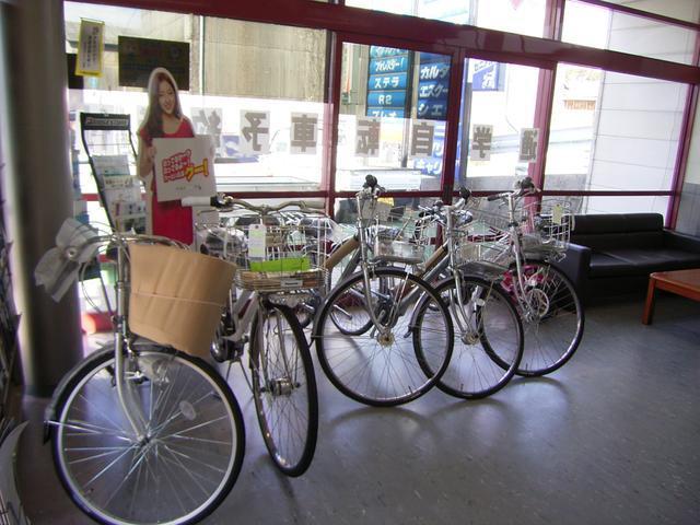 自転車も販売しております。