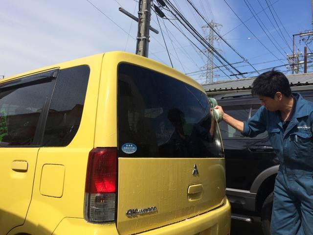 洗車も当店の得意技!きれいになったお車で実感ください!