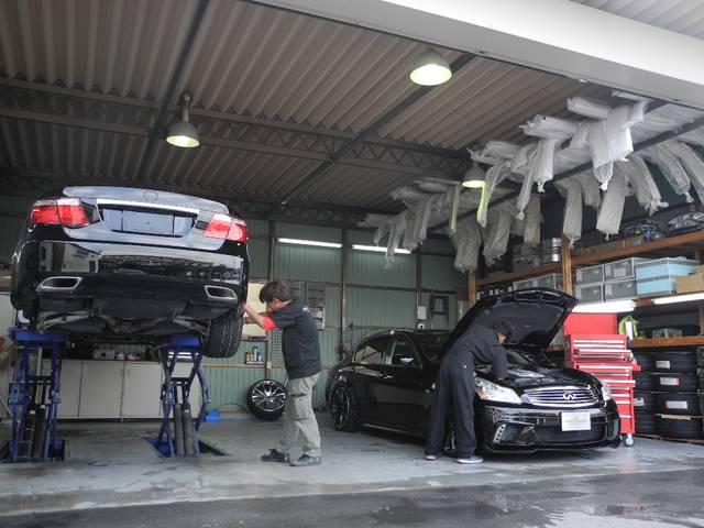 車高が低くて他社工場では作業が出来ないと断られた車もご相談ください!