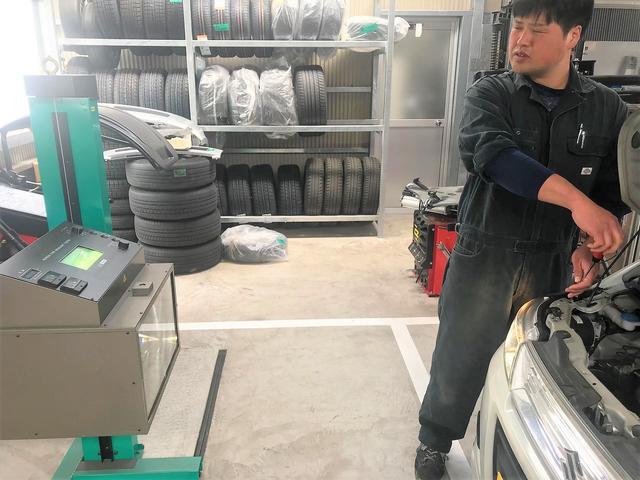 国家資格整備士が車検・一般修理を行いますので安心!