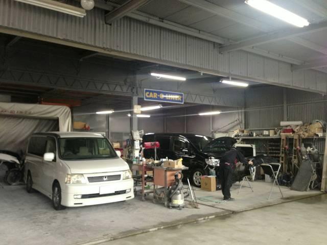 板金塗装工場完備。小さな修理から大きな損傷