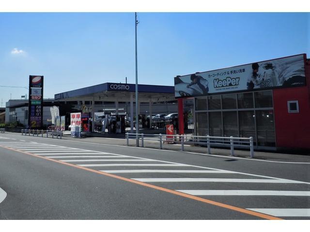 JR共和駅から車で5分、アピタ大府店からすぐ通り沿いにあります。コスモ石油の看板が目印