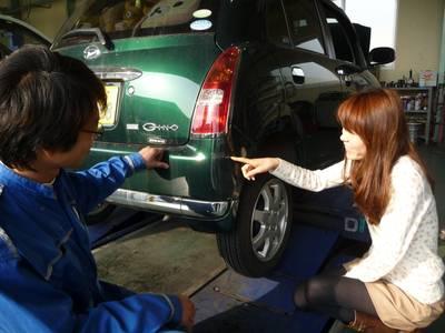 車検と同時にキズの修理もお得です!