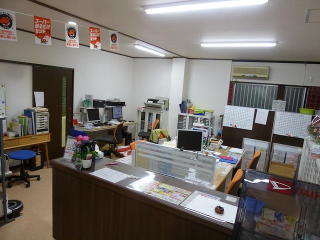 当店事務所もリニューアルしました。広くて明るい事務所でお客様をお迎えいたします。岡崎市稲熊町
