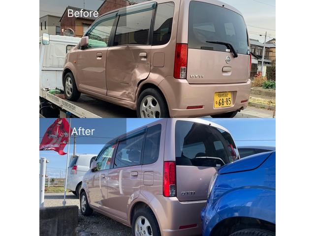 事故修理・板金修理も可能です。