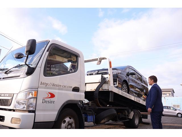 積載車は3台完備しております。遠方納車、レッカー作業も行っております。