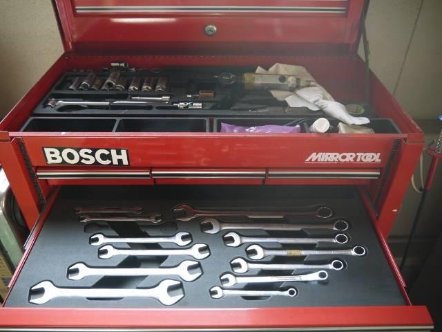 整備の工具にもこだわりがあります!