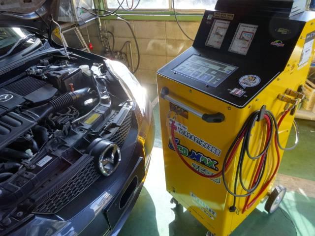 夏にむけてクーラーの効きを更に良くする機械です!!