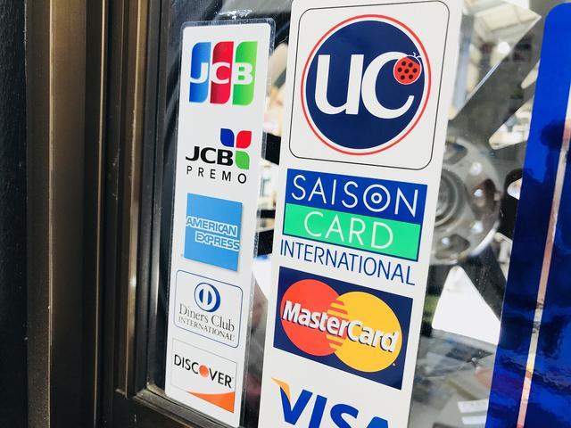 各種カード払いもOK!PayPay、aupayなども取り扱っております!