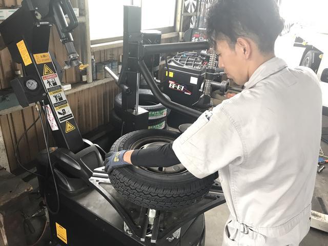 タイヤチェンジャー完備!