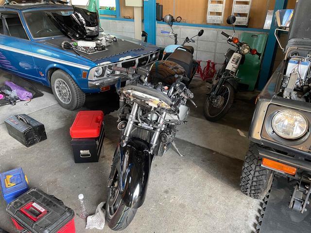 二輪車の車検・整備・修理もお任せください!