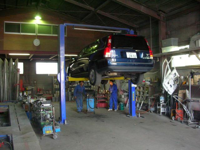 万が一の車輌故障も車検2年法定点検作業も安い価格と安心整備、中古部品対応致します、代車無料貸出し制度