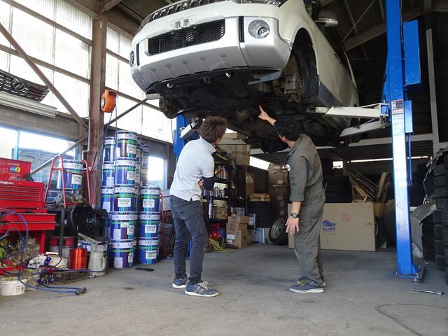 プロスタッフがお車の状態を確認し、適切なアドバイス、修理を行います。