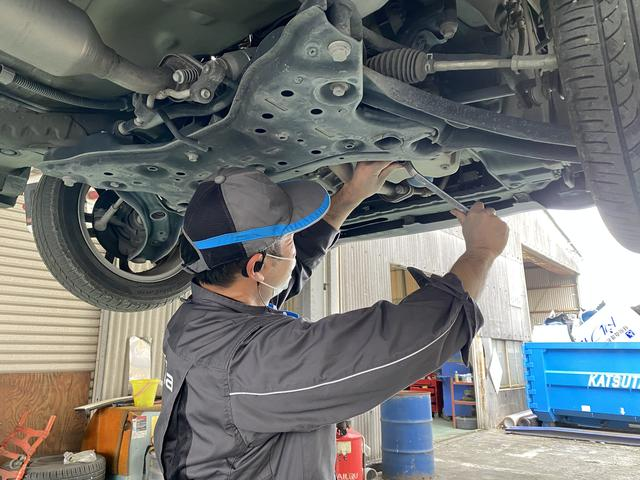 関東運輸局指定の民間車検工場!検査員資格を持った経験豊富なベテラン整備士が多数在籍しています!