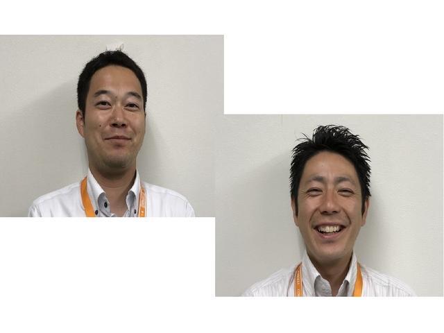 営業スタッフのと福谷(左)と渋谷(右)です。