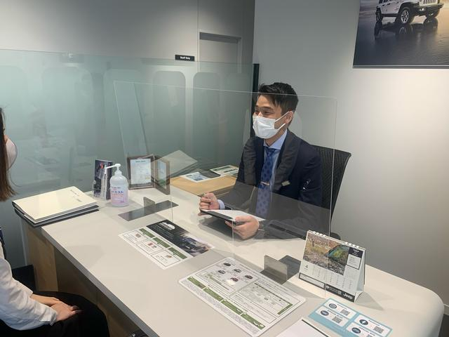 ご案内時につきましては、マスクの着用及びパーテンションなどを活用し、感染予防に努めております。