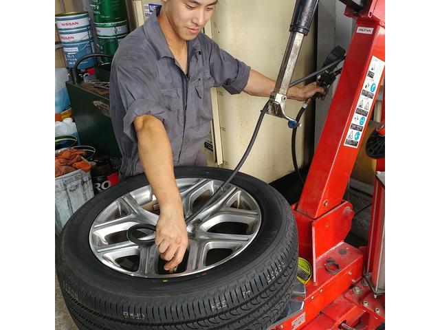 タイヤ交換はもちろん、各種メンテナンスもOK